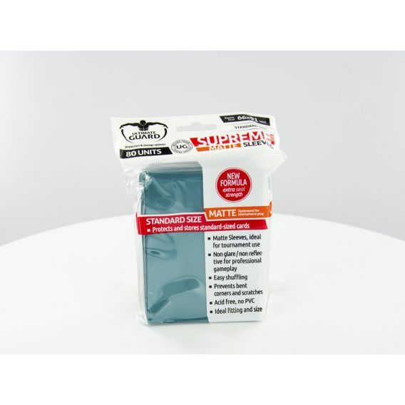 Ultimate Guard Supreme Sleeves Standard Size Matte Petrol Blue (80)
