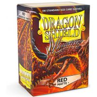 Dragon Shield Standard Sleeves - Matte Red (100 Sleeves) Do gier karcianych Arcane Tinmen