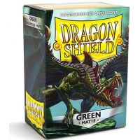 Dragon Shield Standard Sleeves - Matte Green (100 Sleeves) Do gier karcianych Arcane Tinmen