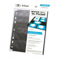 14-Pocket Compact Pages Standard Size & Mini American Black (10)