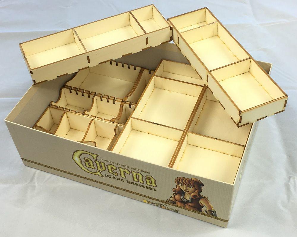 Geekmod - Drewniany insert pasujący do gry Kawerna (Caverna)