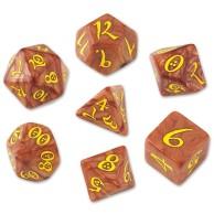 Komplet kości RPG Klasycznych karmelowo-żółtych