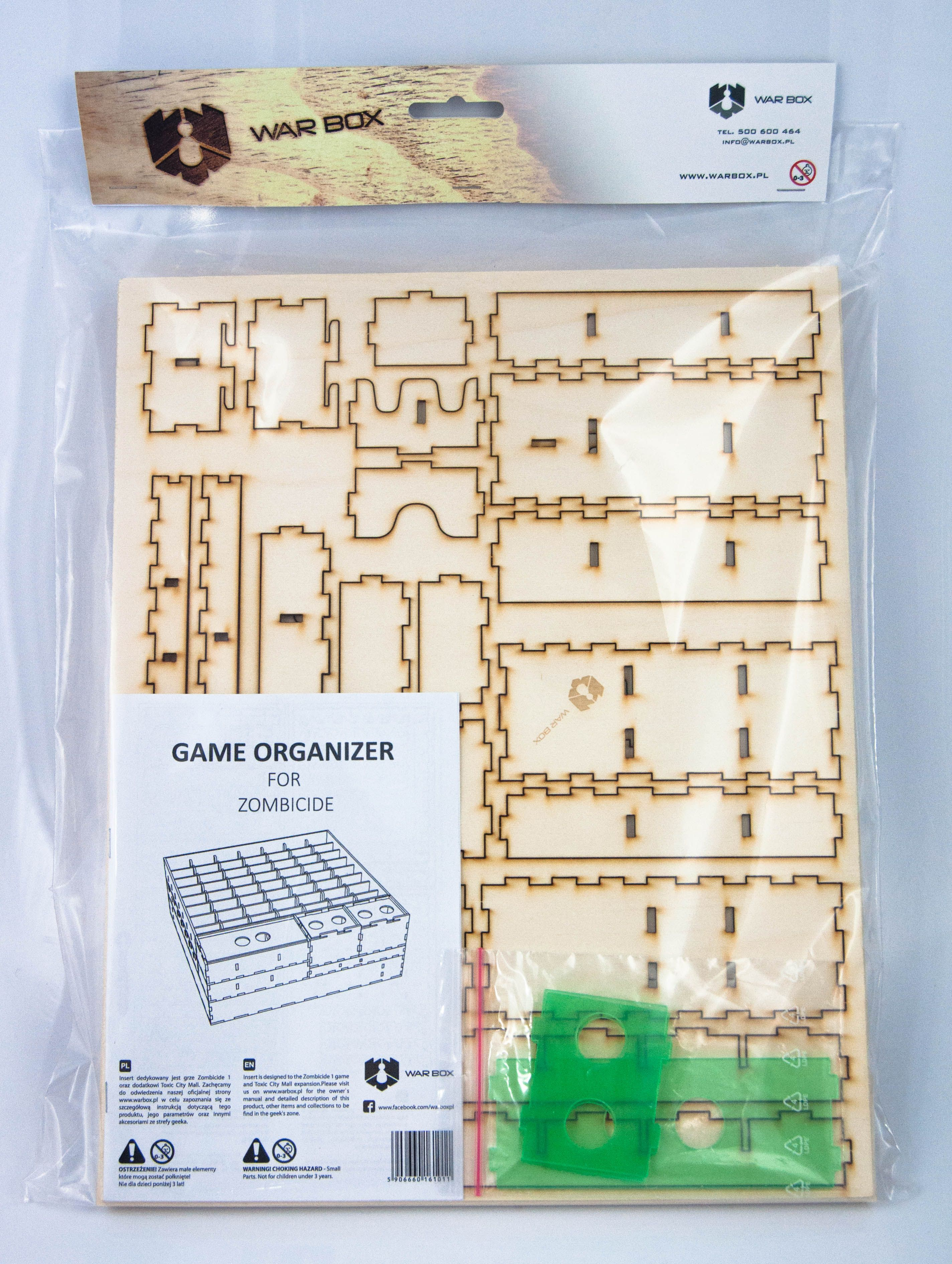 Warbox: Insert do gry Zombicide + Zombicide Toxic City Mall
