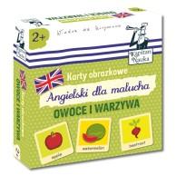 Karty obrazkowe: Angielski Dla Malucha - Owoce i Warzywa Dla dzieci Edgard