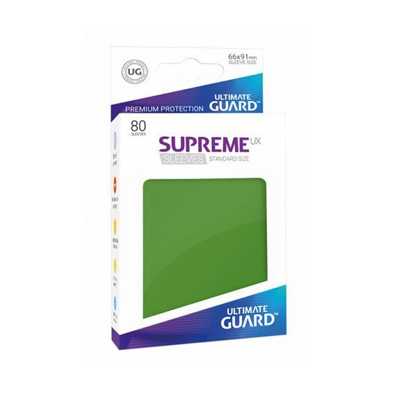Green 80 Ultimate Guard Supreme UX Standard Size Card Sleeves