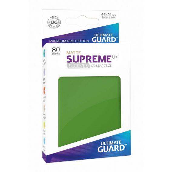 Ultimate Guard Supreme UX Sleeves Standard Size Matte Green (80)