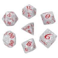 Komplet kości RPG Klasyczne perłowo-czerwone