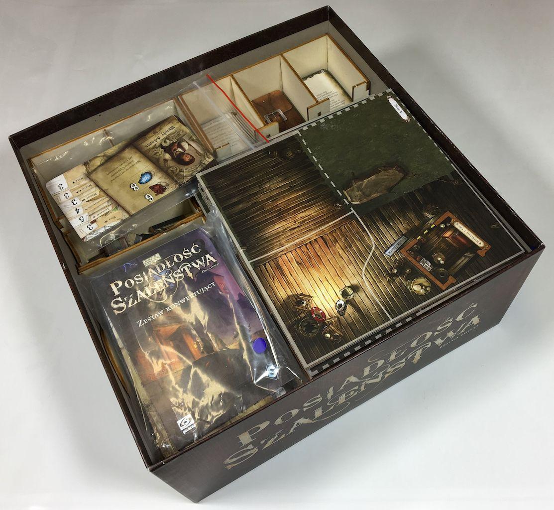 Geekmod - Drewniany insert pasujący do gry Posiadłość Szaleństwa 2 edycja