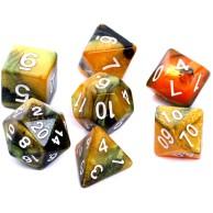 Komplet kości REBEL RPG - Dwukolorowe - Czarno-złote Dwukolorowe Rebel