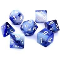 Komplet kości REBEL RPG - Dwukolorowe - Fioletowo-srebrne