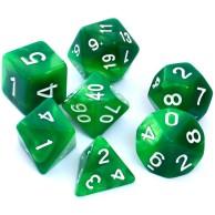 Komplet kości REBEL RPG - Dwukolorowe - Zielono-żółte Dwukolorowe Rebel