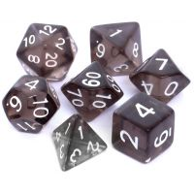 Komplet kości REBEL RPG - Kryształowe - Czarne Kryształowe Rebel