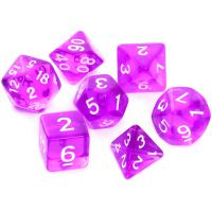 Komplet kości REBEL RPG - Kryształowe - Fioletowe Kryształowe Rebel