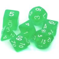 Komplet kości REBEL RPG - Kryształowe - Jasnozielone Kryształowe Rebel