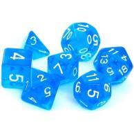 Komplet kości REBEL RPG - Kryształowe - Niebieskie Kryształowe Rebel
