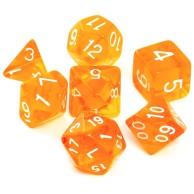 Komplet kości REBEL RPG - Kryształowe - Pomarańczowe Kryształowe Rebel