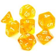 Komplet kości REBEL RPG - Kryształowe - Żółte Kryształowe Rebel