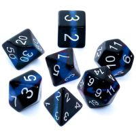 Komplet kości REBEL RPG - Minerały - Szafir