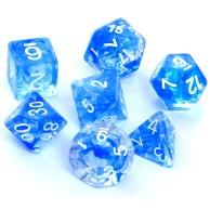 Komplet kości REBEL RPG - Nebula - Niebieskie