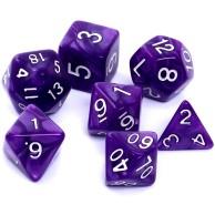 Komplet kości REBEL RPG - Perłowe - Fioletowe