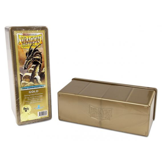 Dragon Shield - 4 Compartment Storage Box - Gold Arcane Tinmen Arcane Tinmen