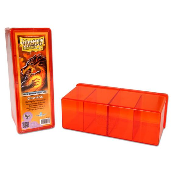 Dragon Shield - 4 Compartment Storage Box - Orange