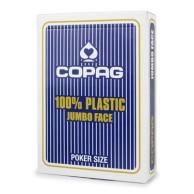Karty Cartamundi - 100% Plastic - Jumbo(niebieskie)