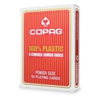 Karty Cartamundi - 100% Plastic - 4C Jumbo (czerwone)