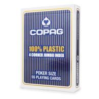 Karty Cartamundi - 100% Plastic - 4C Jumbo (niebieskie)