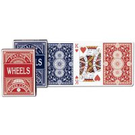 Karty 1391 Wheels Poker red