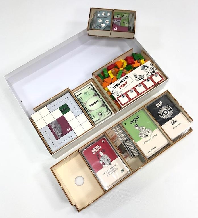 GeekMod - Drewniany insert pasujący do gry Food Chain Magnate