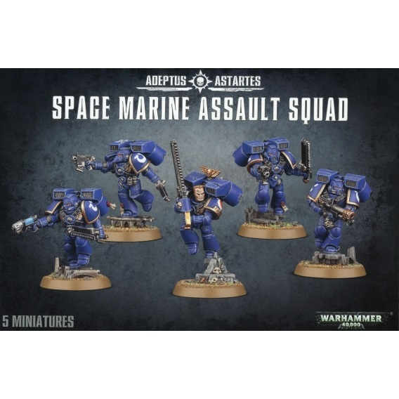 Warhammer 40000: Space Marine Assault Squad Space Marines Games Workshop