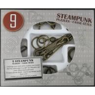 Łamigłówki metalowe 9 szt. STEAMPUNK ZESTAW SZARY Eureka! 3d Puzzle Eureka 3D