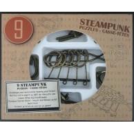 Łamigłówki metalowe 9 szt. STEAMPUNK ZESTAW BRĄZOWY Eureka! 3d Puzzle Eureka 3D