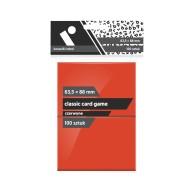 "Koszulki na karty Rebel (63,5x88 mm) ""Classic Card Game"" - 100 sztuk, Czerwone"