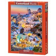 Puzzle 1000 el. Światła Santorini Castorland Castorland
