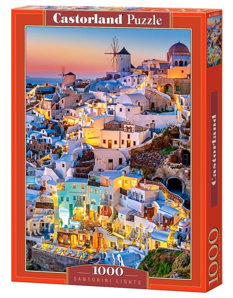 Puzzle 1000 el. Światła Santorini