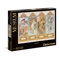 Puzzle 1000 Alphonse Mucha: Cztery pory roku - Museum Collection