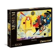 Puzzle 1000 Kandisky: Żółty-czerwony-niebieski - Museum Collection Malarstwo Clementoni