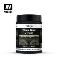Vallejo 26812 Thick Mud Textures 200 ml. Black Thick Mud