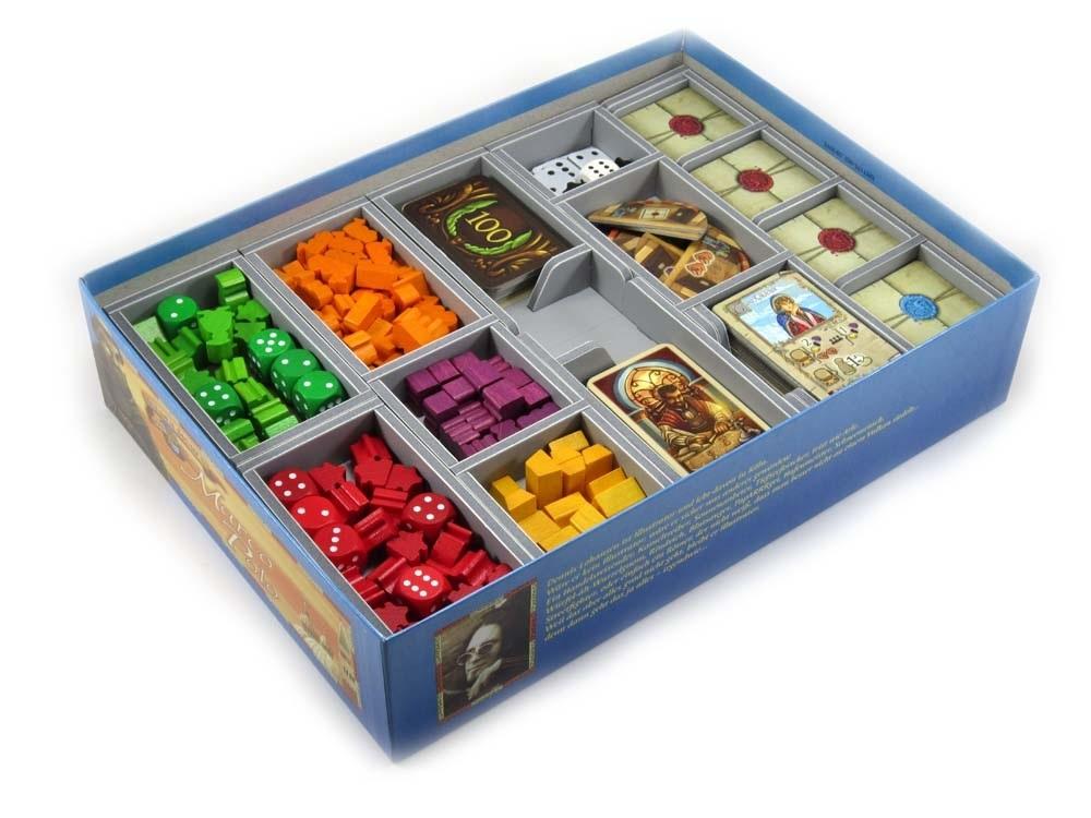 Folded Space: organizer do gry Marco Polo wraz z dodatkami