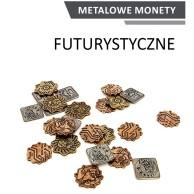 Metalowe Monety - Futurystyczne (zestaw 24 monet)