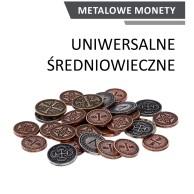 Metalowe monety - Uniwersalne - Średniowieczne (zestaw 30 monet) Monety Rebel