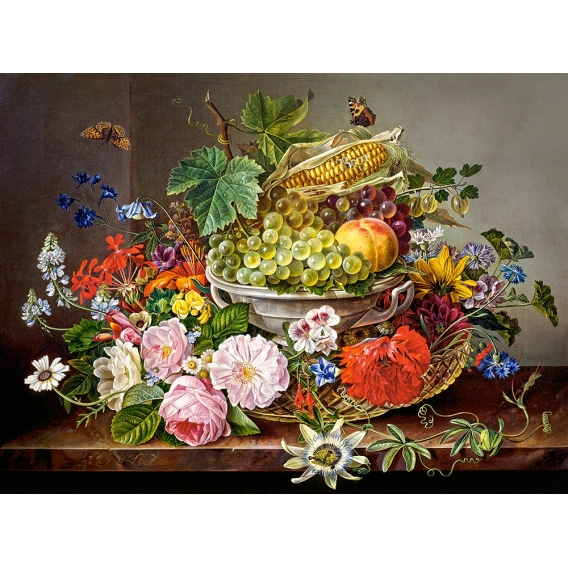 Puzzle 2000 el. Still Life with Flowers and Fruit