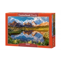 Puzzle 500 el. Mirror of the Rockies