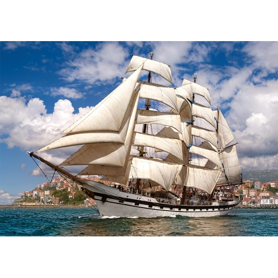 Puzzle 500 el. Tall Ship Leaving Harbour