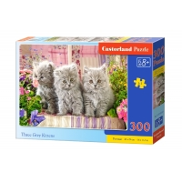 Puzzle 300 el. Three Grey Kittens