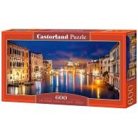 Puzzle 600 el. Canal Grande nocą - Wenecja