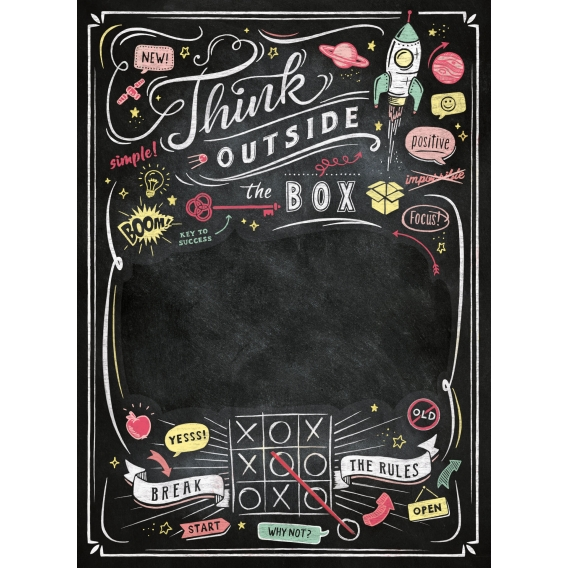 Puzzle 1000 el. Think Outside the box - Black Board