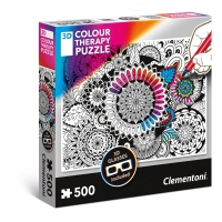 Puzzle 500 el. Mandala - 3D Color Teraphy 3D Colour Therapy Puzzle Clementoni